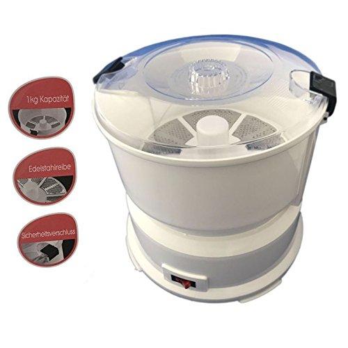 85W Elektro Kartoffelschälmaschine mit Edelstahlreibe Kartoffelschäler Kartoffelschneider...