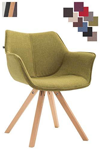 Clp sedia design soggiorno zack in stoffa i poltrona moderna scandinava in legno di faggio i sedia salotto imbottita con braccioli verde natura