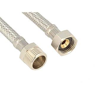tecuro Sanitär Verbindungsschlauch 3/8 ÜWM x 3/8 AG x 300 mm - KTW-A- DVGW