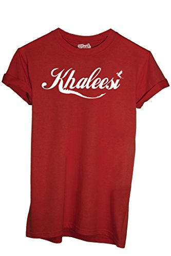 T-Shirt KHALEESI REGINA DRAGO - GAME OF THRONES - FILM by MUSH Dress Your Style Rossa
