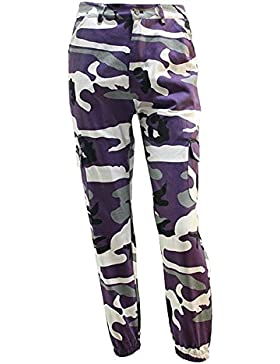 Mujer Pantalon Militar Fashion Anchas Casual Pantalon Deporte Vintage Elegantes Cómodo Niñas Ropa Outdoor Deportiva...