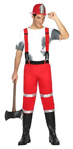 Atosa 17038 - Feuerwehrmann, Herrenkostüm, Größe M-L, (Feuerwehrmann Kostüm Hund)