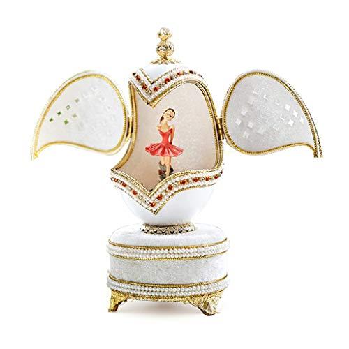 LF Stores Spieluhren Mode-Ballett-Mädchen-Spieluhr, die kreatives Geburtstags-Geschenk dreht (Color : Music Sky City)