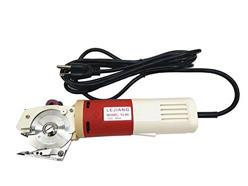 cgoldenwall yj-65portátil eléctrico paño tijeras con punta redonda para tejidos a máquina de corte de cuchillo Tijeras Cortador Hoja diámetro 65mm 110V/220V