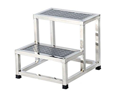 LFFYIZI HJHY® Stufenhocker, Edelstahl Stufenleiter Stufenhocker Kleine Treppen korrekte Sitzhaltung (Farbe : #2)