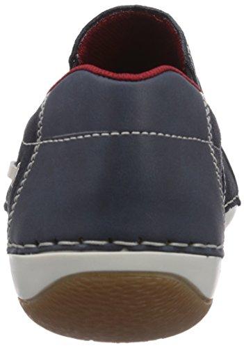 Rieker B9271/25, Baskets mode homme Bleu - Blau (denim/pazifik/champignon / 15)