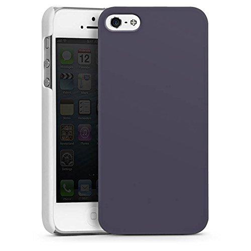 Apple iPhone 5s Housse Étui Protection Coque Gris sombre Gris Gris CasDur blanc