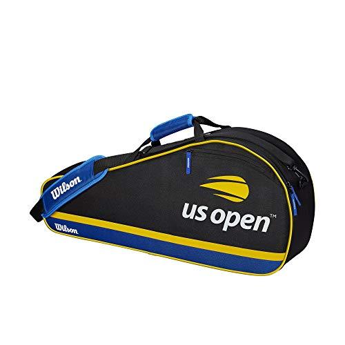 Wilson Tennistasche US Open, Unisex, US Open 3 Pack, Black/Blue/Yellow