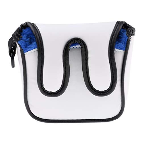 Baoblaze PU-Leder Golf Putter Head Cover Putterhaube Schlägerkopfhülle Abdeckung mit Karabinerhaken - Blau