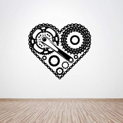 Zyklus Teile Herzform Tapete Aufkleber Wohnzimmer Mode-stilVinyl Kunst Dekor Wandaufkleber für Schlafzimmer Poster Wandbilder57 * 64 cm -