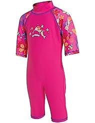 Zoggs niños de 1-pice sirena F. sol traje de protección contra, Infantil, 1-Pice Mermaid F.Sun Protection, Pink/Multi-Colour, 1 - 2 años