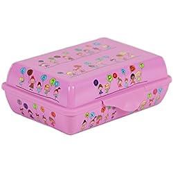 Rotho 1773910417 Funbox Creative Contenitore porta merenda 0,9 l con disegno, circa 17,6 x 12,6 x 6 cm, rosa