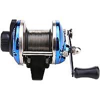demiawaking derecho agua salada hielo pesca spinning ruedas carretes línea tambor rueda hielo TB maletero, azul