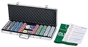 eSecure :Magnifique coffret professionnelle poker de 500 jetons livré avec une mallette en Aluminium
