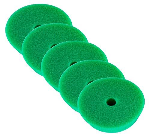 RUPES 5X Polierpad Medium Polierschwamm Polierscheibe grün mittel 130-150 mm