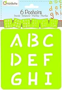 Décopatch - 42450MD - Avenue Mandarine - Set De 6 Pochoirs Enfants - Alphabet