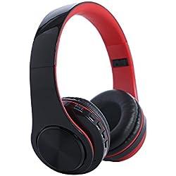 Winwintom Auriculares Bluetooth De Diadema InaláMbricos,Cascos Bluetooth Plegable,De Volumen para iPhone, Samsung Galaxy S9/8/7/6, Huawei, Xiaomi, Pc, iPad, iPod Mp3/Mp4 (con MicróFono)