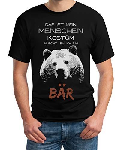 Menschen Kostüm in echt Bin ich EIN Bär Karneval Kostüm Herren T-Shirt Medium - Kostüm Schwarzen Menschen