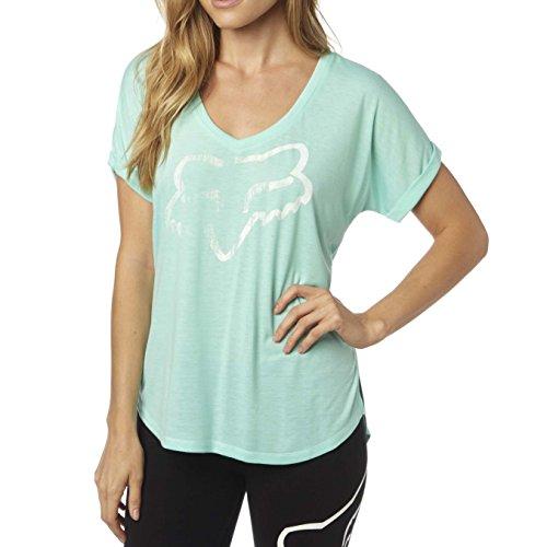 Fox Damen T-shirt Responded Ss V Neck Green