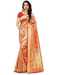 2a13ada860b Freya Crafts Womens Banarasi Art Silk Saree With Blouse Piece Jacquard  Woven Design (Rj 19