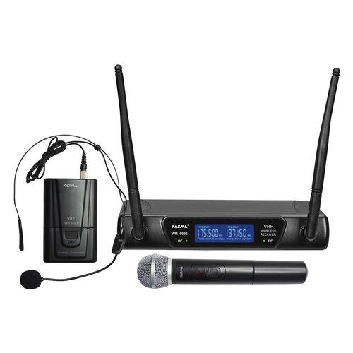 Karma SET 6092PL Doppio Radiomicrofono ad Archetto, Nero