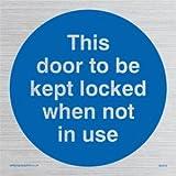 Viking Schilder ma219-s40-svDiese Tür aufbewahrt werden Gesperrt, wenn nicht in Gebrauch zu Sign, silber Vinyl, 400mm x 400mm
