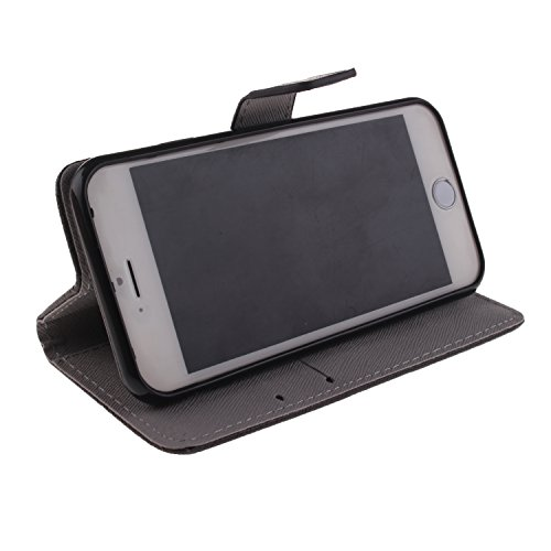 Ooboom® iPhone 5SE Hülle Flip PU Leder Schutzhülle Handy Tasche Case Cover Wallet Standfunktion mit Kartenfächer Magnetverschluss für iPhone 5SE - Formel CALI FOR NIA