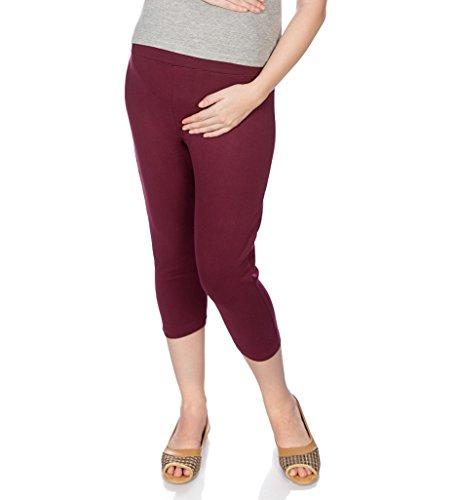 Goldstroms Women's Maternity Capri (Maroon, XL)