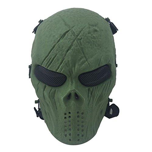 Airsoft Maske, Coofit Ghost Skull Softair Schutzmaske Paintball Maske Totenkopf Halloween Maske auf Amazon