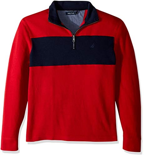 Nautica Men's Long Sleeve Half Zip Mock Neck Sweatshirt -