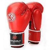 HiXB Guantes de Boxeo Transpirables universales para Muay Thai Formación Sparring,Red,8OZ
