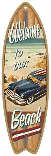 Cita Playa, Verano Tabla surf madera placa letrero