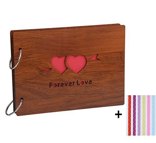 8 X 6 pulgadas de madera creativa álbum de fotos de bricolaje libro de recuerdos pegatina regalo de memoria amor