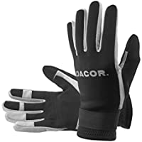 Dacor Amara 2mm Neopreno Comodidad Superior Durable y Protectora Agua Deporte Guante, Unisex, Amara 2mm Neoprene Superior Comfort Durable and Protective Water Sport Gloves, Negro, XS