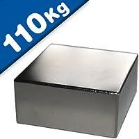 Imán Rectángulo Bloque magnético Neodimio - 50 x 50 x 20mm - Neodimio (NdFeB) N40, Níquel - Fuerza de sujeción 110 kg - Imanes permanentes super potentes de Tierras Raras para la industria y el hogar