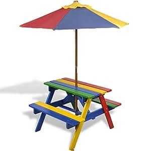 Kids Childrens Picnic Garden Parasol Umbrella Patio Table
