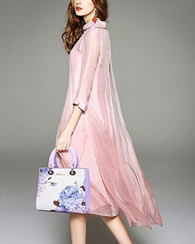Borse Donna Borsa A Tracolla Borsette PU Pelle Tote Bag Borse A Mano Di Elegante Printing Viola