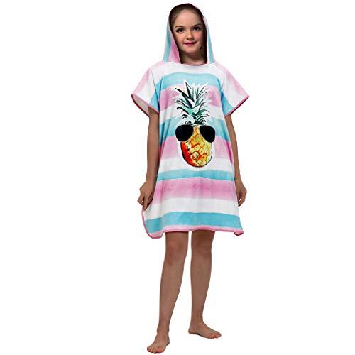 JERFER Shirt Kinder Mädchen Jungs 3D Digital Drucken Mit Kapuze Bademantel Baden Strand Handtuch
