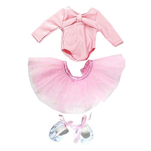 MagiDeal Puppenkleidung Ballett Tanz Anzug Satz Bekleidung für 18 Zoll Puppe - ()