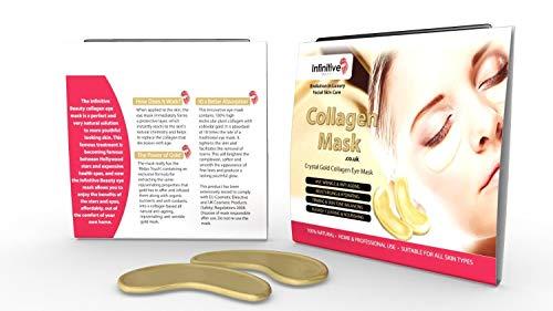 Infinite Beauty® - Masque d'or Collagen Eye - Anti Aging, Rides, hydratantes, Taches, raffermissant, tonifiant, cercles noirs, peau Lissage, Ascenseur naturel, pieds Crows (10)