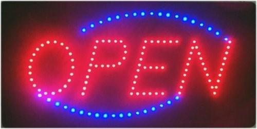 """LED Leuchtreklame Schild, groß, leuchtstark """"OPEN"""""""