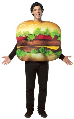 (Rasta Imposta 4007084 Adults Get Real Cheeseburger Costume - Cheeseburger - One Size Fits Most by MCS)