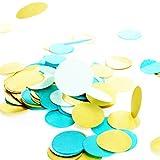 Simplydeko Table-Confetti Mix | Konfetti aus Seidenpapier in 3cm (Party, Hochzeit, Deko, Hochzeitsdeko, Konfeti in Pastell) Wunderschönes XXL-Konfetti (Bahamas)