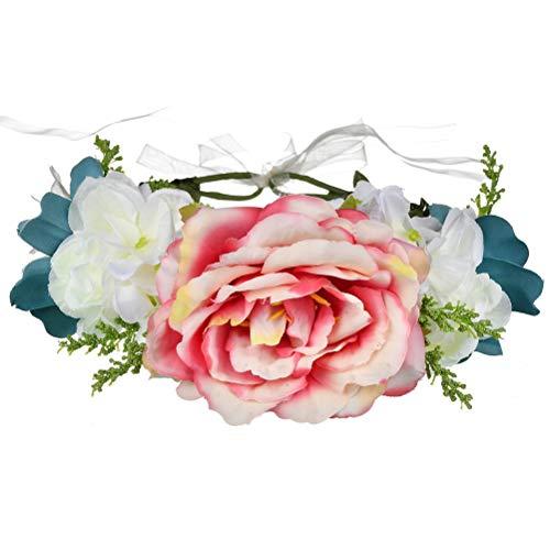 Tocado de hadas de tiara nupcial Corona de flores Diadema