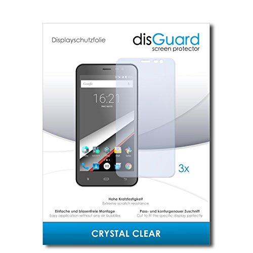 disGuard® Bildschirmschutzfolie [Crystal Clear] kompatibel mit Phicomm Clue L [3 Stück] Kristallklar, Transparent, Unsichtbar, Extrem Kratzfest, Anti-Fingerabdruck - Panzerglas Folie, Schutzfolie