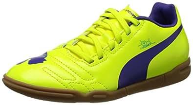 Puma evoPOWER 4 IT Jr, Unisex-Kinder Hallenschuhe, Orange (fluro yellow-prism violet-scuba blue 04), 28 EU (10 Kinder UK)