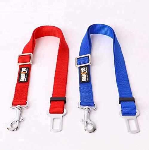 Zixian Global Online Store Dog Car Seat Belt for Securing Dogs During Car Travel Adjustable Dog Cat Pet Car Safety Seat Belt,Blue -