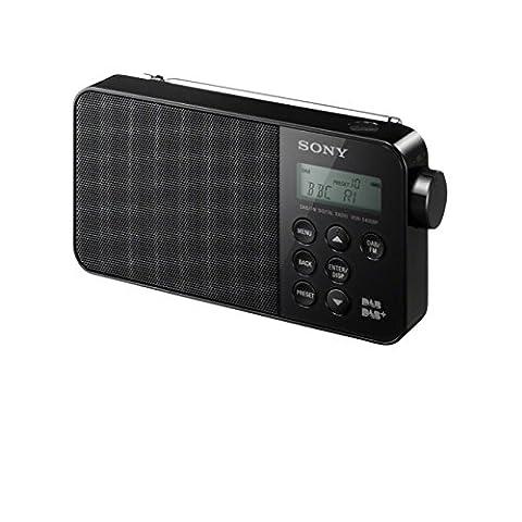 Sony XDR-S40DBPB Radio Portable FM/DAB/DAB+ - Noir - Nero Radio Dab