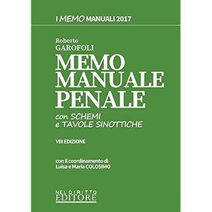 Memo Manuale Con Schemi E Tavole Sinottiche Di Penale. Con Contenuto Digitale Per Download E Accesso On Line