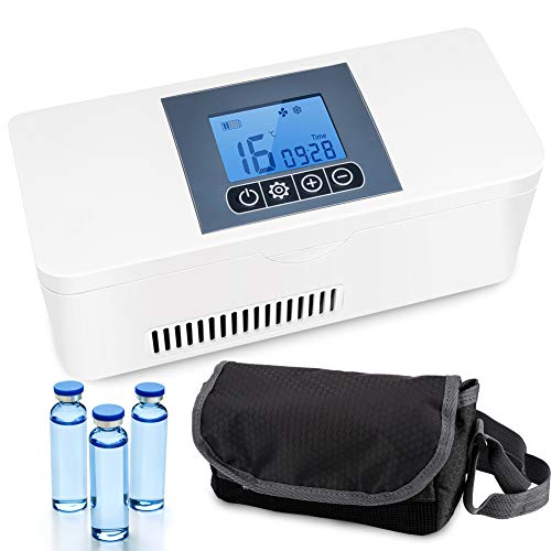 IDABAY Nevera portátil Caja de refrigerador de Medicina Mini Caja de insulina...